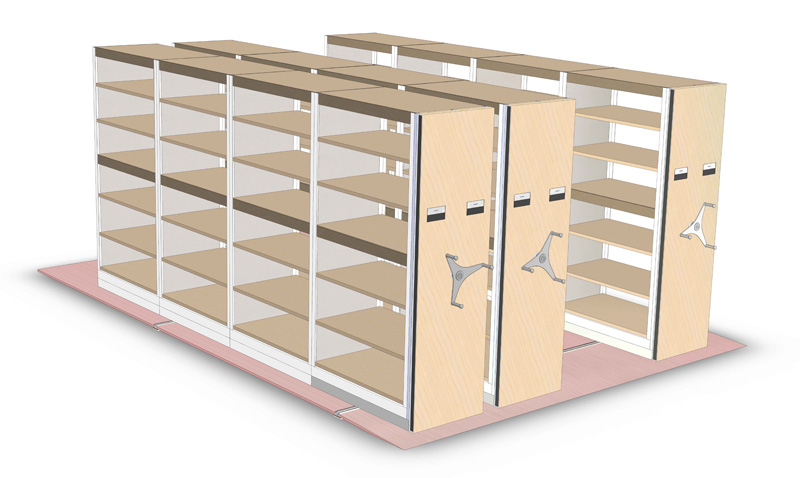 SPACE SAVER HIGH DENSITY MOBILE SHELVING 3