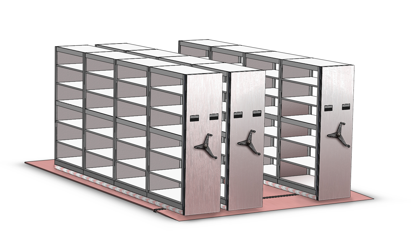 SPACE SAVER HIGH DENSITY MOBILE SHELVING