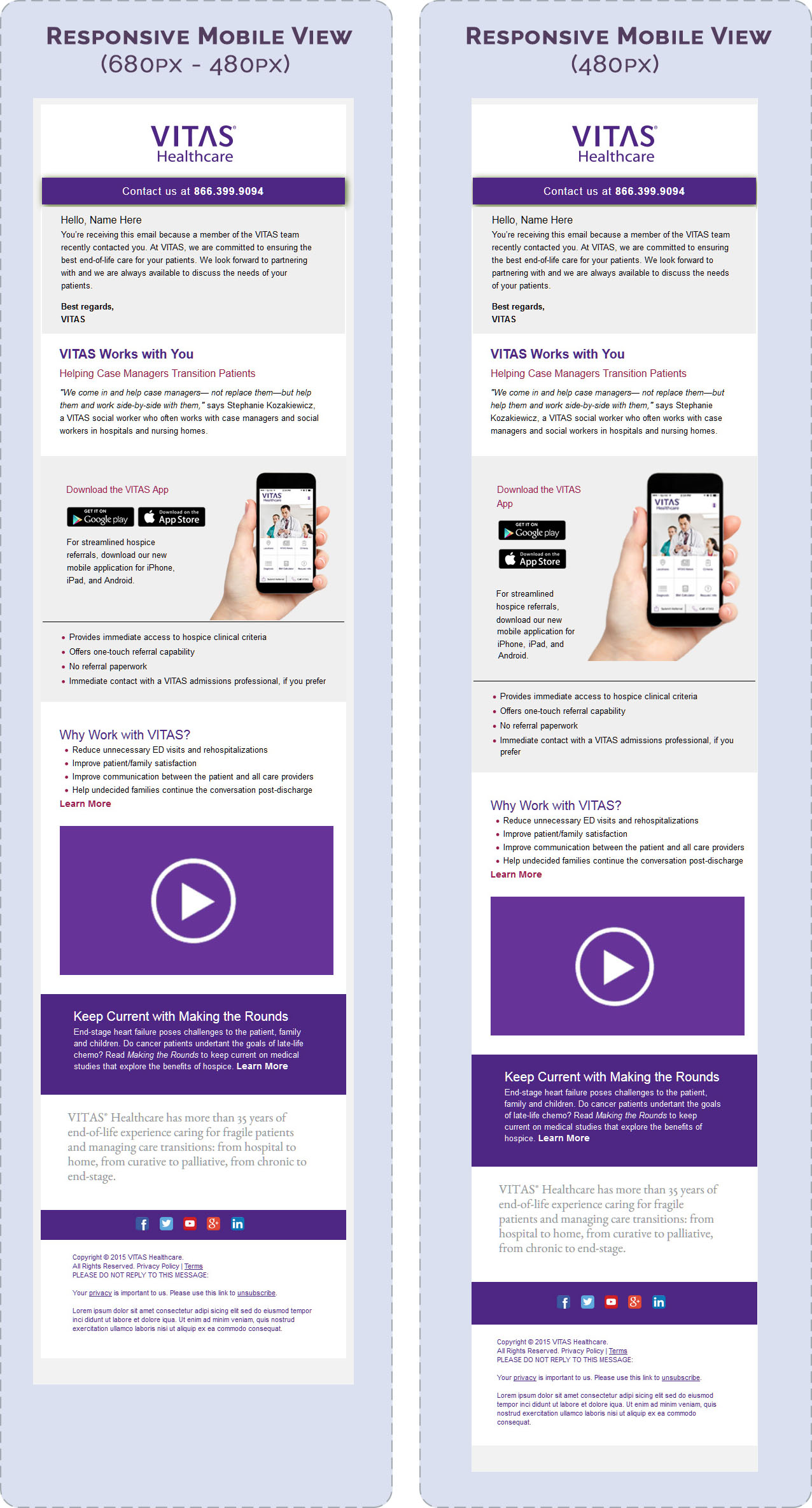 Responsive email mobile view